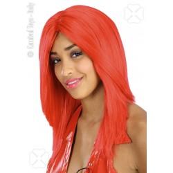 Perruque rouge cheveux raides sans frange