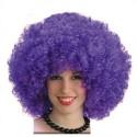 Perruque afro violette volumineuse très frisée