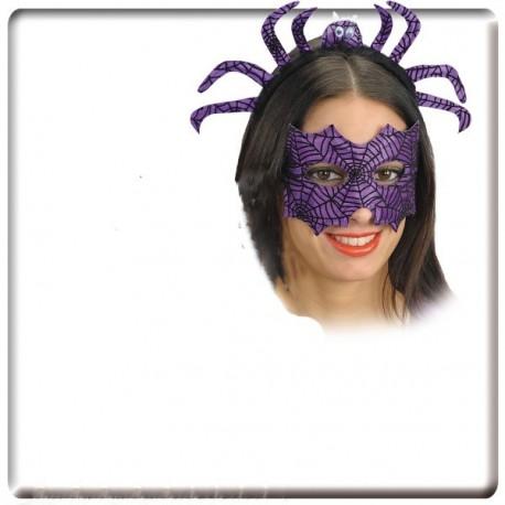 serre-tete-araignee-et-masque-loup-violet-et-noir
