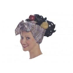 Perruque foulard Brésilienne agrémentée de fruits