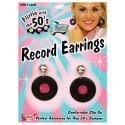 Boucles d'oreilles disque record année 50
