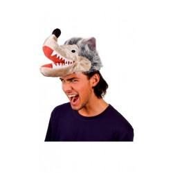 Coiffe de loup en peluche belle qualité chapeau humoristique