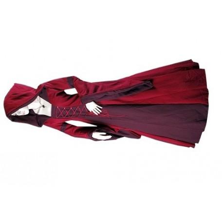 robe-medievale-rouge-et-bordeaux-a-lacets
