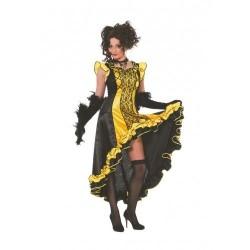 Moulin jaune et noir cancan espagnole