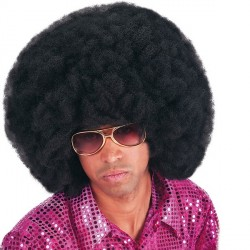 Perruque afro noire volumineuse