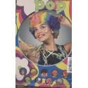perruque Afro multicolore Pop Frisée Multicolore