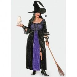 robe de Sorcière gothique noire et violette taille 56