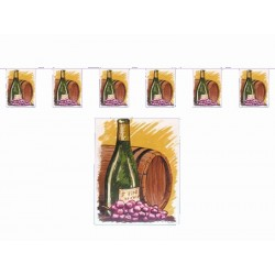 Guirlande Fête du vin 15 fanions sur 5 mètres