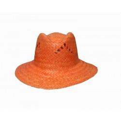 Chapeau paille orange style australien