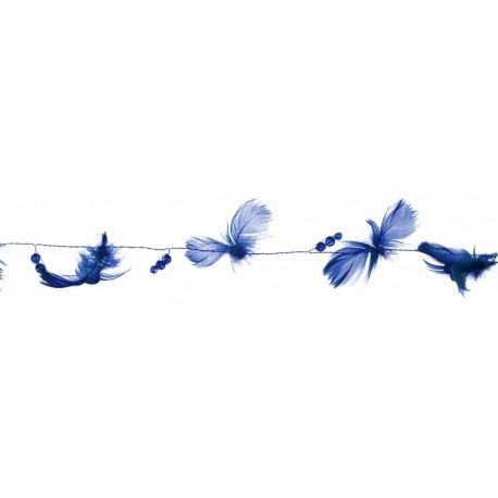 guirlande-bleu-roi-plumes-et-perles-2-metres