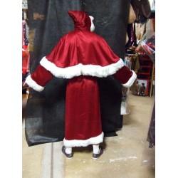 Père Noël manteau bordeaux traditionnel européen