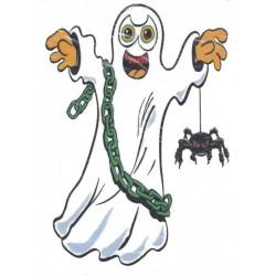 Décoration électrostatique Halloween fantôme enchaîné