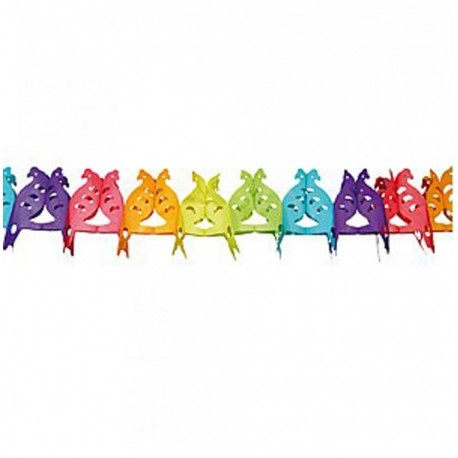 Guirlande de perroquet multicolore en papier alvéolé décoration coloré