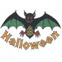 Décoration électrostatique Halloween chauve-souris