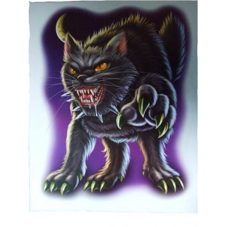 decoration-electrostatique-halloween-chat-noir-garou