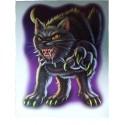 Décoration électrostatique Halloween Chat noir Garou