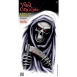 Décoration électrostatique Halloween la mort et sa faux Reaper