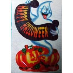 """Décoration électrostatique """"fantôme et bannière Happy Halloween"""