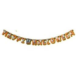 Décoration guirlande fantômes citrouilles Bannière Happy Hallowe