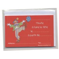 6-cartes-d-invitation-et-6-enveloppes-motif-clown