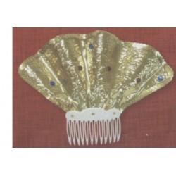 Peigne espagnole doré pour Cheveux