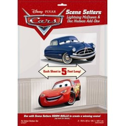 1 Pack De 2 Décorations Murales Cars (Mcqueen Hudson)