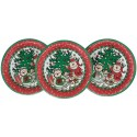 6 Assiettes Plates décor de Noël Nounours Ø 23 cm