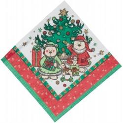 12-serviettes-en-papier-motif-noel-famille-sous-le-sapin
