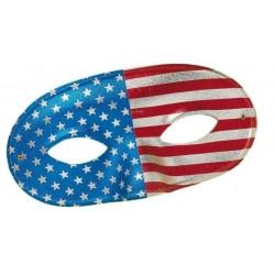 Loup USA métallisé avec nez american flag