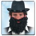 Barbe noire frisée mi-longue