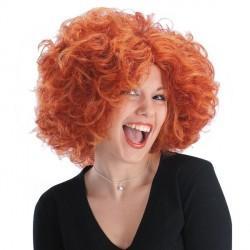Perruque rousse Angela courte ébouriffée chapelier fou