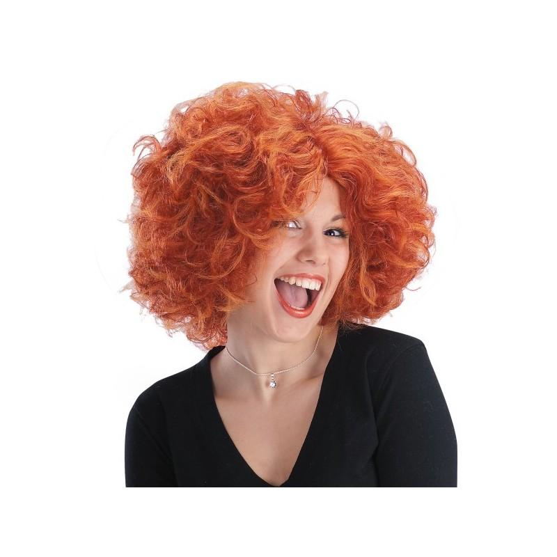 Perruque rousse Angela courte ébouriffée