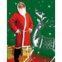 Manteau de Père Noël 1er prix avec barbe et perruque