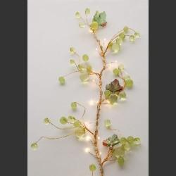Guirlande électrique feuilles de vigne vertes et cuivre