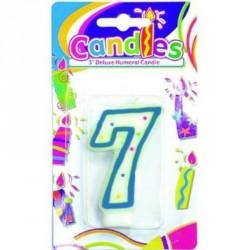 Bougie Chiffre 7 Joyeux Anniversaire candle