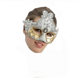 loup-effet-craquele-orne-d-or-et-perles-d-argent