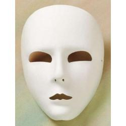 Masque neutre recouvert de tissu blanc