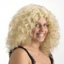 Perruque blonde cheveux bouclés Antonellina mi longue