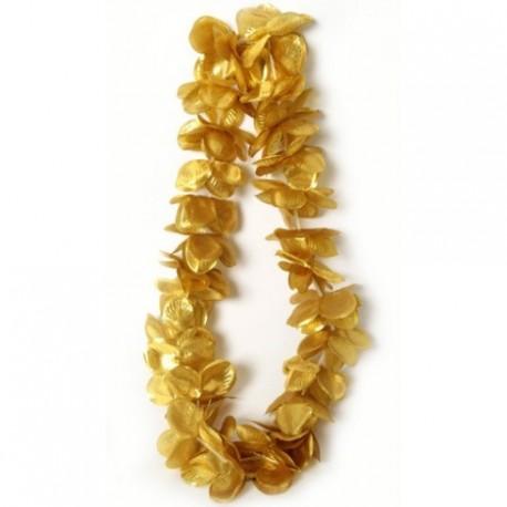 collier-hawaien-fleurs-dorees