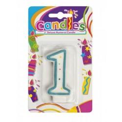 Bougie Chiffre 1 Joyeux Anniversaire candle