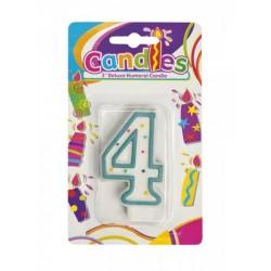Bougie Chiffre 4 Joyeux Anniversaire candle