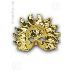 Demi-masque soleil or loup doré