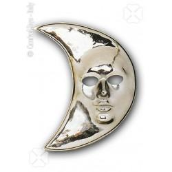 Masque lune argent demi lune argentée