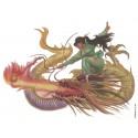 1 Tatouage temporaire motif dragon jaune