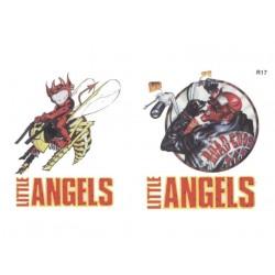 2 tatouages temporaires motifs diable Angels Tatoo