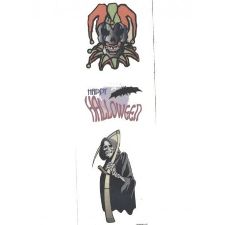 3-tatouages-temporaires-motifs-crane-halloween-et-faucheuse