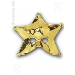 Demi-masque étoile or loup doré