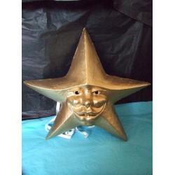Masque étoile or vénitien