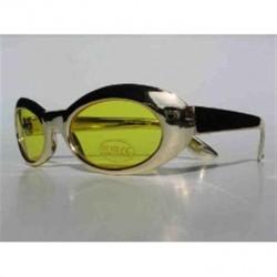lunettes de soleil métallisées dorées Ovales