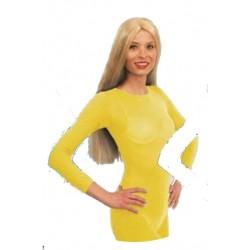 Body justaucorps jaune taille S/M 36/40
